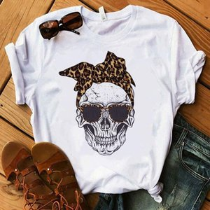 Women's T-shirt Harajuku Skull Deer Camouflage Burlap Turban T-shirt Clothes Short Sleeve Graphic T-shirt Tops in the Woods