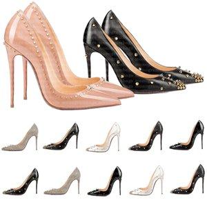 Women Dress Shoes Red Bottom High Heels Womens Luxury Designer Genuine Leather Pumps Lady Wedding Bottoms Sexy Sandals Black Golden Heel Gold Sandal with Box