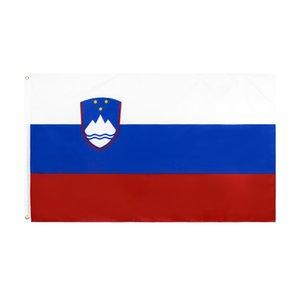 Slovenia Flag 3x5 FT Slovenian Flags Flags Banner 90*150cm Polyester with Brass Grommets Home Garden Wall Flag Decor