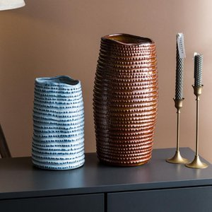Grand Vase Moderne Vase Moderne Ceramic Creative Fashion Flower Arrangement Design Pot Salon Adornos Salon Décor Ed50HP