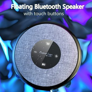 C7 Floating Bluetooth Speaker Waterproof IPX6 Swimming Soundbox with Touch Buttons Mini Super Bass Subwoofers 2020 New LED Light