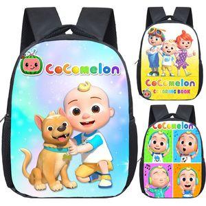 12-дюймовый JJ Cocomelon рюкзак для детей детский сад школьные сумки детей мультфильм школа рюкзаки девушки мальчики bookbag mochila