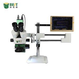Профессиональные наборы инструментов для рук BST-X7 двойной ARM Универсальный кронштейн тринокулярный стереомобильный микроскоп мобильный телефон ремонт 7-45x Непрерывное увеличение