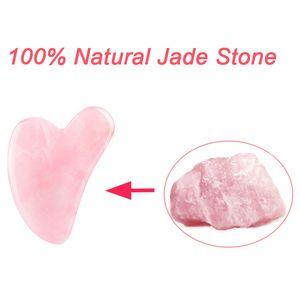 Natural Rose Jade Gouache Scraper Face Lift Massager for Gua Sha Board Skin Relax Sliming Beauty Eye Neck Thin