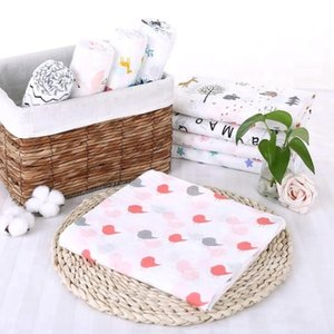 Baby Muslin Swaddle Blankets Cotton Summer Bath Towels Newborn Wraps Nursery Bedding Infant Swadding Parisarc Robes Quilt YL374