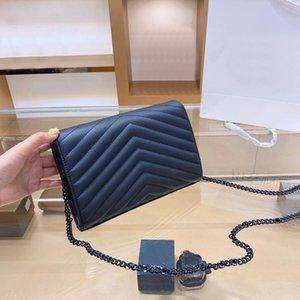 Genuine Leather Handbag Comes With Box Chain Bag Women luxurys Fashion Designers Bags Female clutch Classic High Quality Girl Handbags #5