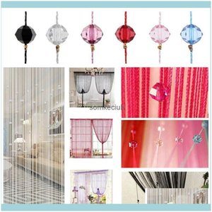 Treatments Textiles Home & Gardentassel Crystal Beads Curtain Room Door Divider Sheer Panel Curtains Window Valance Wedding Decor Crystals S