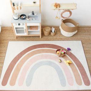 Baby Rainbow Playing Mats Kids Rug Floor Mat Tapete Tummy Children Playmat Rainbow For Bedroom Rugs Nursery Decor Quarto