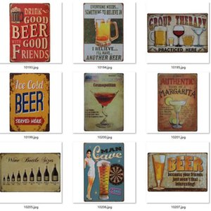 Metal Painting Beer Poster 4000+ style Corona Extra Tin Signs Retro Wall Stickers Decoration Art Plaque Vintage Home Decor Bar Pub GWE9438