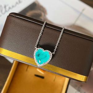 HBP Luxo 2021 Novo Colar Palaiba em forma de coração * 10 Versátil 925 Corrente Corrente Simples estilo de moda