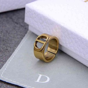 Di Family Luxury Ring d Fashion   Jewelry Cd Designer Open Letter Personalized Medieval Simple Wide Version Bracelet