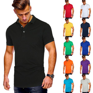 Men's Large Polo Shirt Summer Short Sleeve Mens 13 Colors Casual Male Tops Clothing Hot