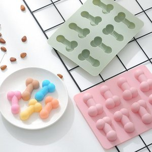 Craft Tools 8Cavity Funny Cute Penis Soap Mold Brthday Fudge Cake Chocolate Banking Silicone For Making