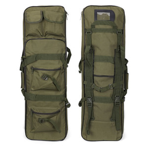 80cm 95cm 115cm Tactical Double Rifle Carry Backpack Tan Hunting Duel Gun Handbag Integrated Pistol Gun Cases 201022 43 W2