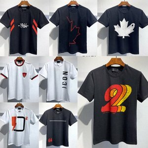 Mens Designer T shirts black white 2020ss fashion dsq d2 Tshirts Summer Pattern T-shirt Male Short Sleeve  dsquared2 dsquared
