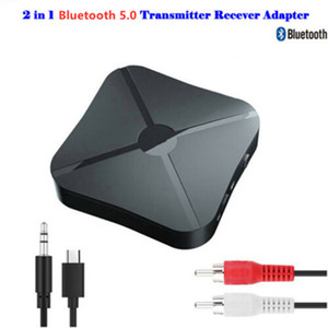 Bluetooth Adapter Receivers 2 in 1 Receiver Transmitter 3.5mm Jack for TV Headphones Speakers Stereo Audio Connector