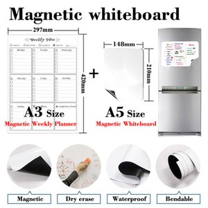 NEW Soft Monthly Weekly Planner and Magnetic Whiteboard Fridge Sticker Home Office Kitchen Message Board Daily Recipe Table 210312