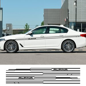 2PCS Car Long Side Stripes Sticker Decal For BMW E36 E39 E46 E90 E91 E92 E93 E21 E28 E30 E34 E60 E61 F30 F10 F32 F35 Accessories