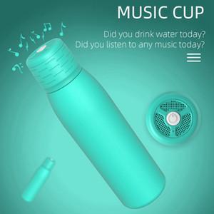 20oz Bluetooth Music Cup Wireless Water Tumbler Insulated Waterproof Bluetooth Speaker Travel Portable Water Bottle Coffee Mug Gift HHA1727