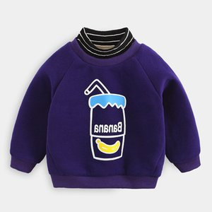Benemaker Baby Boy Turtleneck Swearshirts For Winter Fleece Pullovers Children Clothing Warm Long Sleeve Top Kids Clothes NA806 Y0304
