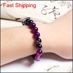 8mm Fashion Brand Luxury Natural Stone Healing Crystal Stretch Beaded Bracelet Women Men Handmade Precious Gemstone jllfvb bdedome