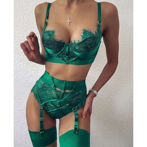 suit 2020 autumn new lace eyelash stitching Sexy lingerie for women