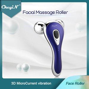 3D Yüz Rulo Mikrokurlu Yüz Masajı V Yüz Germe Güzellik Rulo Titreşim Vücut Masaj Anti Aging Kırışıklıklar Azaltma 48 C022801 C31