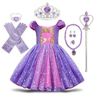 Малыш Baby Girls Rapunzel София Костюм принцессы Хэллоуин Косплей Одежда Малышей Вечеринка Ролевые Дети Необычные Платья для Девочки 0203