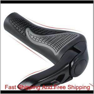 1pair Ergonomic Bicycle Grip Bike Handlebar Grips With Bar End Anti-slip Rubber Cycling Mtb Mountain Bike Road Bike P qyliec abc2007
