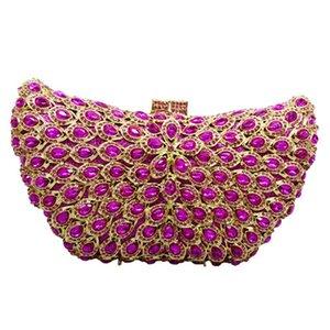 Xiyuan rot lila kleine mini make up taschen luxus frauen abend kristall clutch taschen mode strass gold metall prom preiswerke