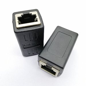 Network cable connector butt joint, network cable extension 8P8C network straight-through female-to-female adapter