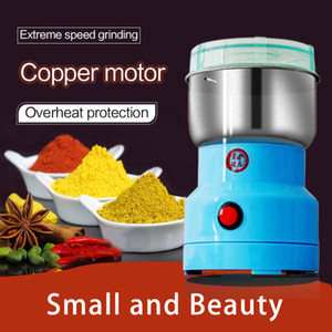 Powerful Electric Coffee Grinder Stainless Steel Coffee Bean Dry Grains Grinding Machine with Retail box