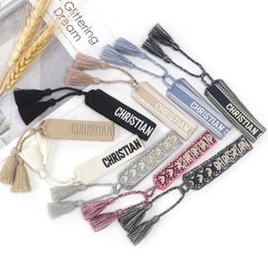 Family Bracelet Creative Trinket Letter Woven Bracelet Fashion Simple Wrist Band Bohemian Hand Rope