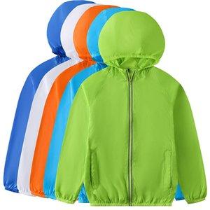 Outdoor Sun-Protective Kinder Kleidung Mädchen Sommer Dünn Atmungsaktive Haut Kleidung Jungen Mantel Windjacke Jacke Kinder