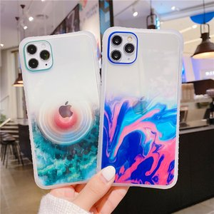 10Pcs Lot Glitter Marble Pattern Phone Case For iPhone 12 11 Pro Max Mini X XR XS 7 8 6S Plus Transparent Waist TPU Cover On SE2