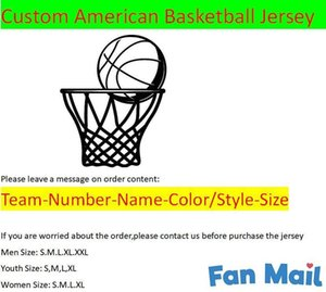 Custom Basketball Jerseys All 32 Teams Customized Screen Printed On Any Name Number XS-XXL Mix Order Man Women Kids Youth Jerseys