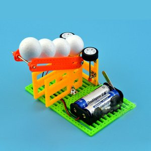 Children's Fun Science Toy Child DIY Homemade Automatic Launch Ball Machine Technology Small Production Materials