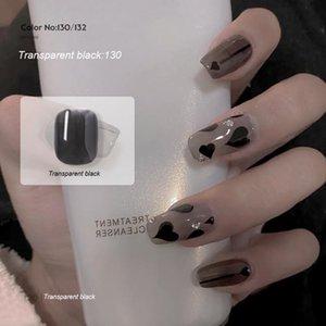 Nail Gel 8ml Milky Polish Ice Penetrating White Stockings Black UV LED Semi Permanent Varnish Glue TSLM2