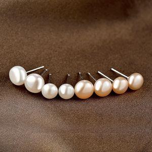Fashion Ornament Freshwater Pearl Ear Studs S925 Silver Korean Simple Temperamental Freshess Earrings Pearl Accessories for Women