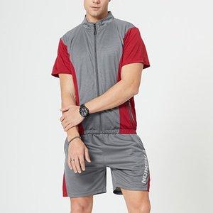 Men Suit Two Piece Zipper Tee Outwears Joggers Shorts Sets Male Sweatsuit Casual Tracksuit Mens Outfits Suits Men Clothing Set