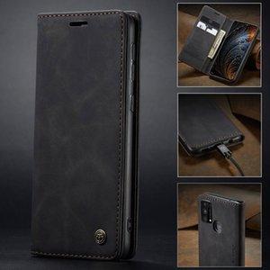 Coque en cuir pour Samsung Galaxy M21 M51 M31 M31 M30S Portefeuille multifonctionnel Couvercle de téléphone à flip magnétique pour Samsung M20 M10 M 21 Funda