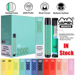 Authentic Vapen Macro Disposable Pod Device Kit 2000 Puffs 6ml Bottom Airflow Vape Stick Pen Vapor Bar System IGET XXL Shion 100% Genuine