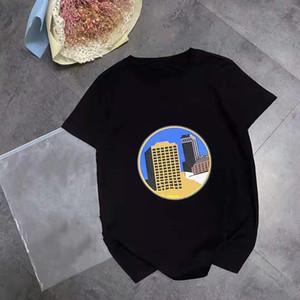 21-jähriges Loe Frühling und Sommer Poster Castle T-Shirt Paar Grundlegende Lächeln Ausdruck Kurzarm