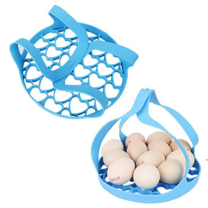 Silicone Portable Steamer Pressure Cooker Sling Silicone Steamer Lifter Accessories Kitchen Pot Drain Crock Mat Egg Insulated Tools AHA3673
