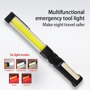 Flashlights Torches Magnetic Car Repairing Working Light COB LED Torch USB Charging Emergency Warn Lamp For Camping Hunting
