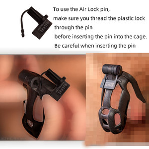2021 New Design Air Lock Pin For Cobra Cock Cage with 5pcs Plastic One-time Code Lock Chastity Device Accessories Lock