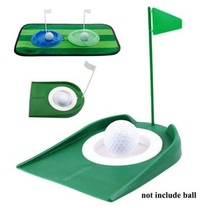Golf Putting Regulation Cup Hole Flag Indoor Home Yard Outdoor Practice Training Trainer Aids Bracelets Repair Kit Putter D