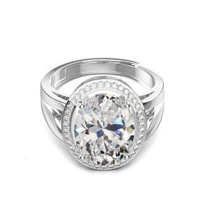 HBP Fashion New Group Set Set Super Large Luxury Simulation Diamond Four Claw Princess Zircon Anello anello coinvolgimento