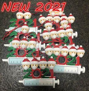 DHL 2021 عيد الميلاد الديكور الحجرية الحلي الأسرة من 1-9 رؤساء diy شجرة قلادة اكسسوارات مع حبل حزب الهدايا بالجملة