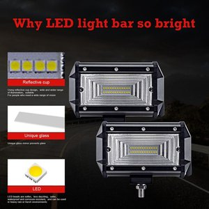 Two Rows of 5Inches White Light 240W Car Light Assembly for Trucks Cars Led Work Bar for Off Road SUV Boat 12V 24V